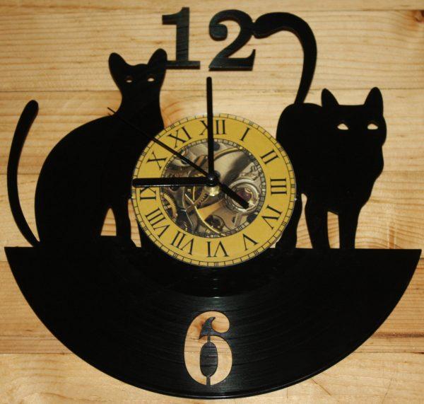 Mačke vynil zidni sat