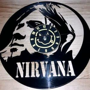 Nirvana Kurt Cobain vynil zidni sat
