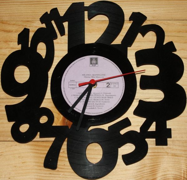 Brojke vynil zidni sat